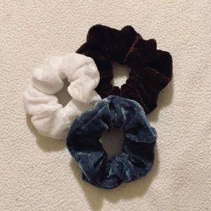 Velvet scrunchie bundle